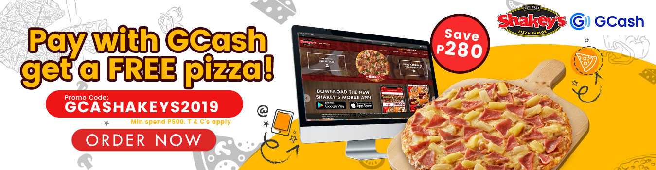 Pay with GCash for FREE Pizza!