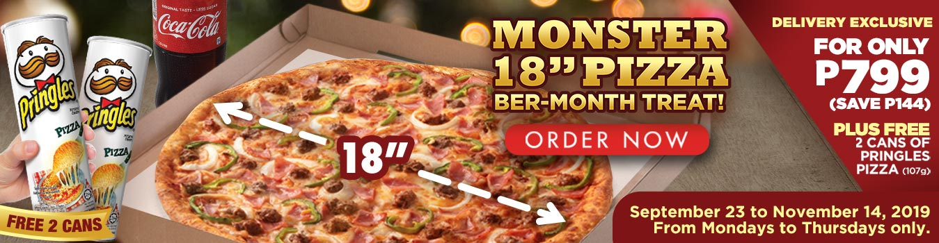 "Monster 18"" Pizza Ber-Month Treat"