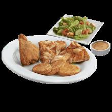 Salad, Chicken N Pizza